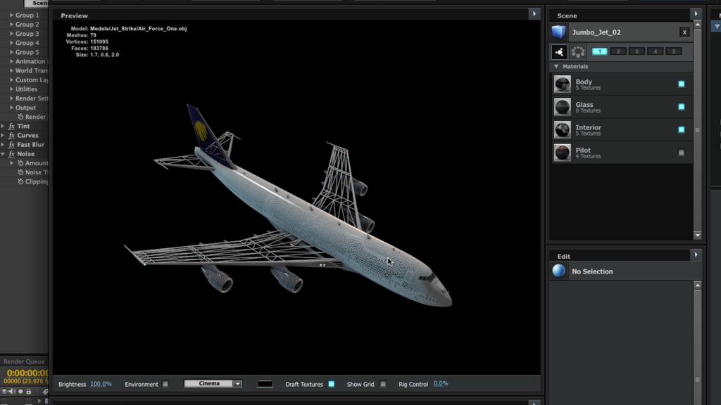 Jet modeling in Element 3D